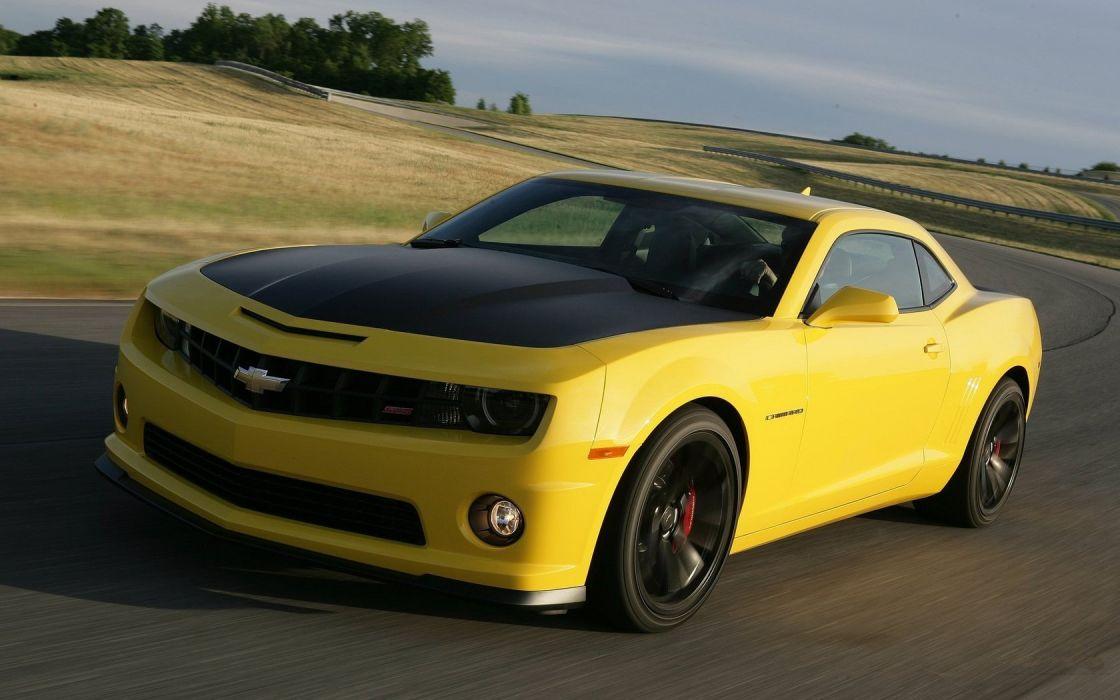 cars sports cars yellow cars race tracks Chevrolet Camaro 1LE wallpaper