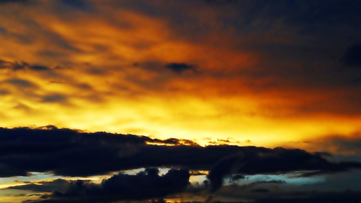 sunset clouds nature sunlight skies wallpaper