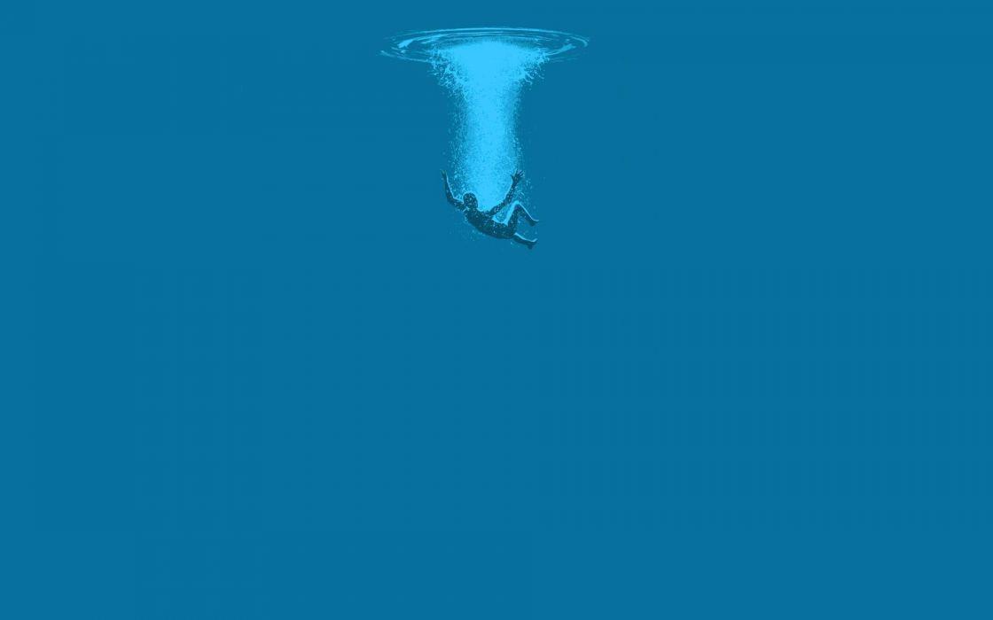 water minimalistic dethklok drowning wallpaper