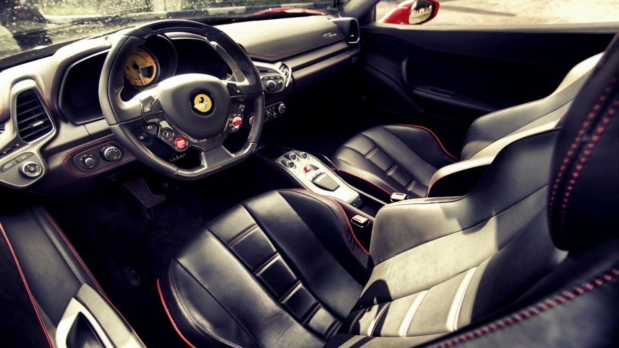 cars Ferrari interior vehicles Ferrari 458 Italia wallpaper