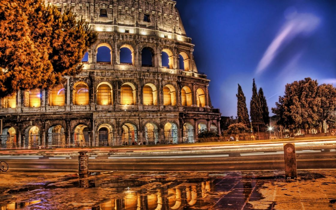 Rome Colosseum HDR photography wallpaper