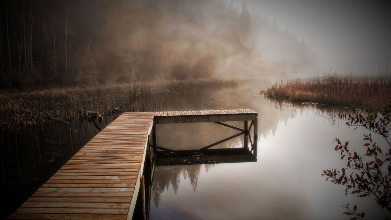 water landscapes dock wallpaper