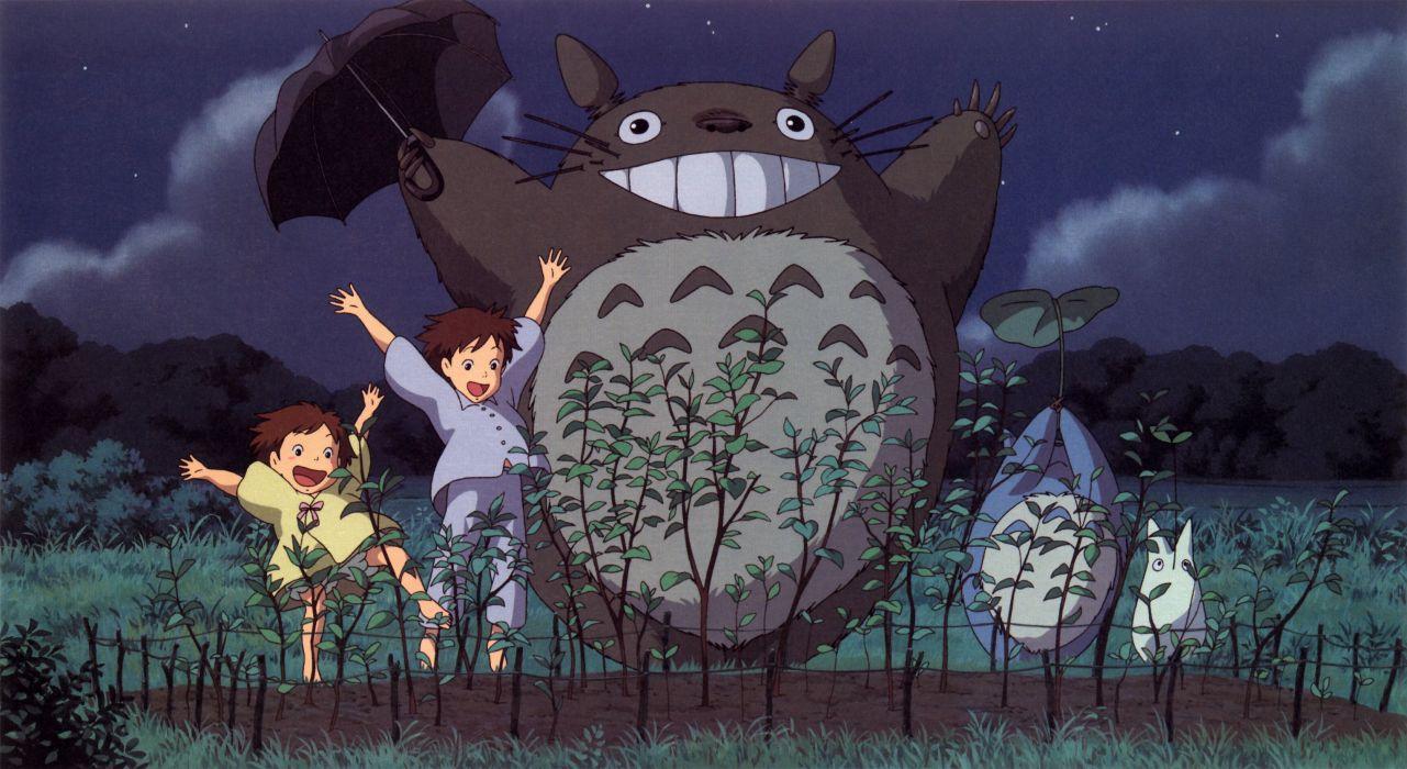 cartoons Hayao Miyazaki Totoro animation My Neighbour Totoro artwork Studio Ghibli anime wallpaper