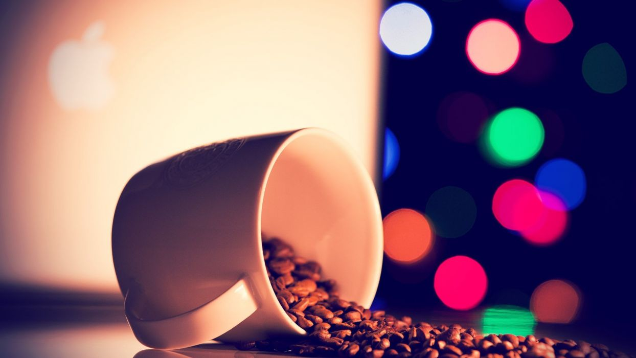 mugs coffee beans coffee cups wallpaper