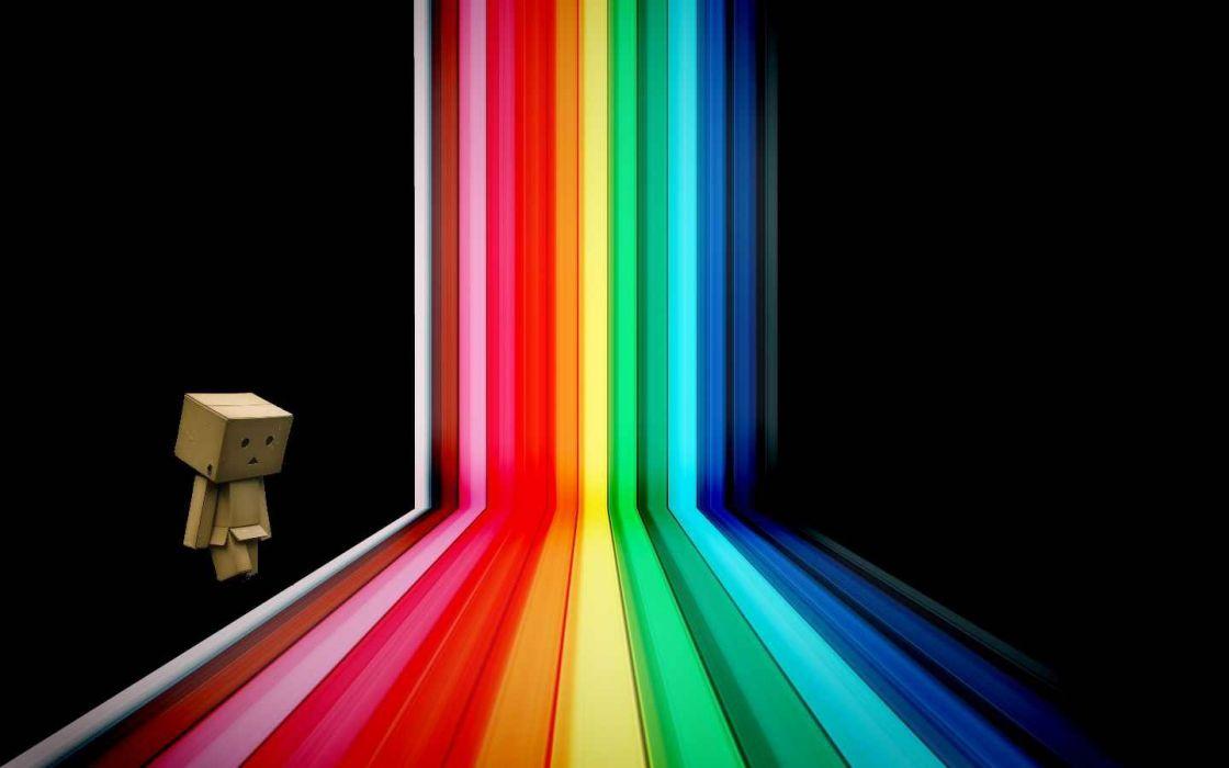 robots rainbows wallpaper