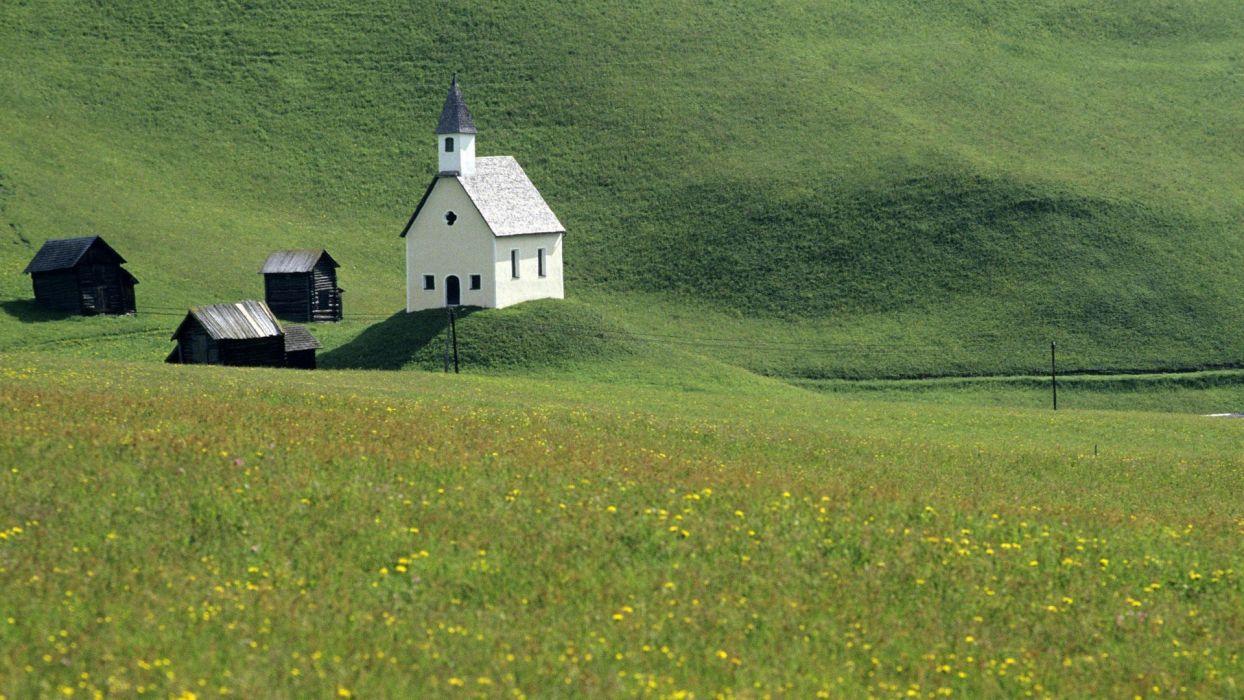 nature Austria churches tyrol wallpaper