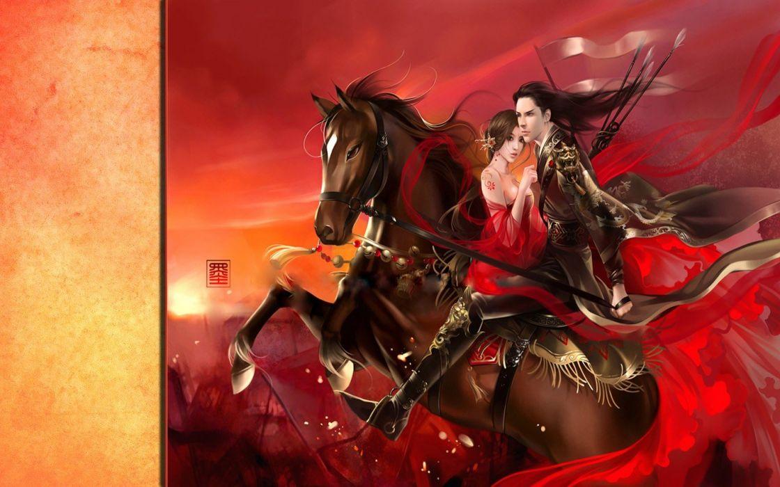 fantasy Asians artwork wallpaper