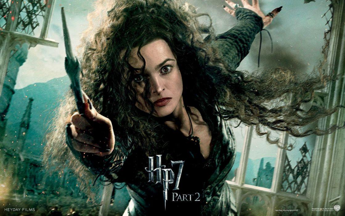 fantasy movies Harry Potter magic Helena Bonham Carter Harry Potter and the Deathly Hallows movie posters Hogwarts Bellatrix Lestrange Death Eaters wallpaper