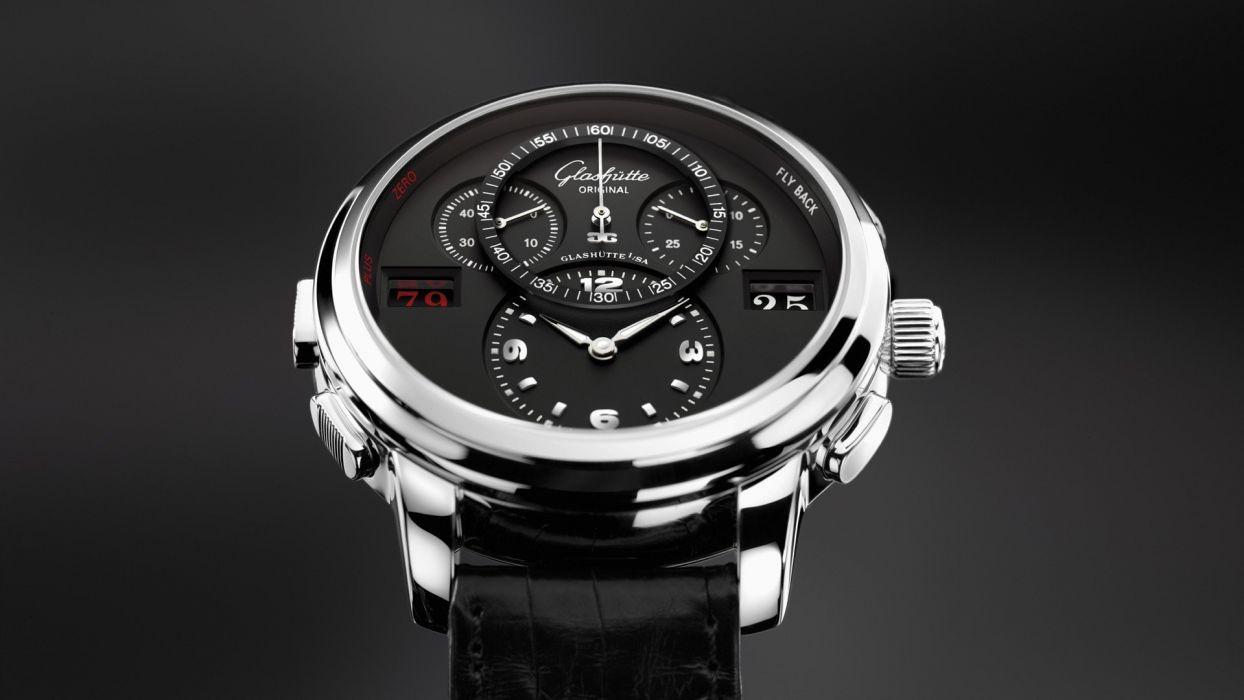 black watches glashutte wallpaper