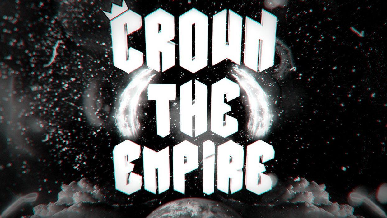 black and white clouds black dark white Earth Crown The Empire wallpaper