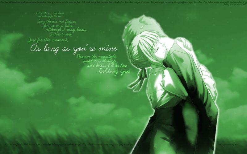 Fate/Stay Night Emiya Shirou Saber Fate series wallpaper