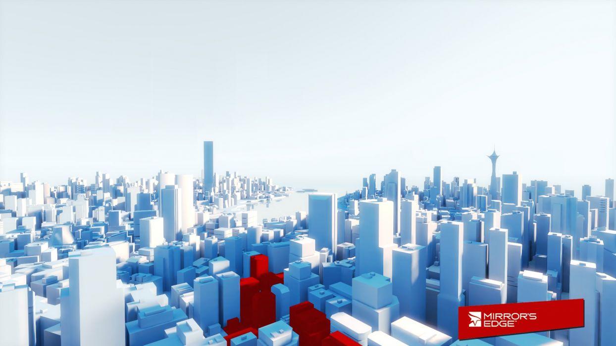 cityscapes Mirrors Edge architecture wallpaper