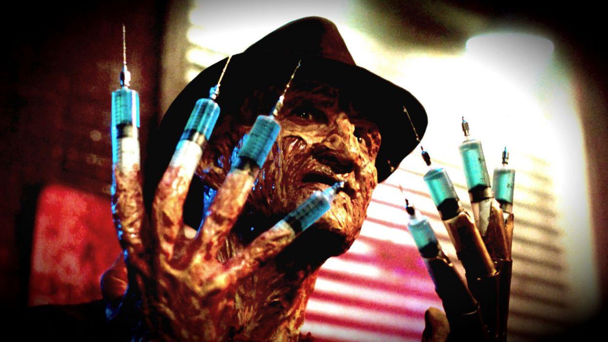 A Nightmare On Elm Street Dark Horror Thriller Ey Wallpaper