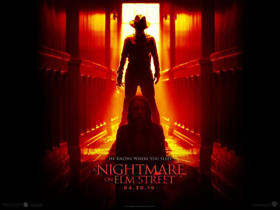 A NIGHTMARE ON ELM STREET dark horror thriller poster       t wallpaper
