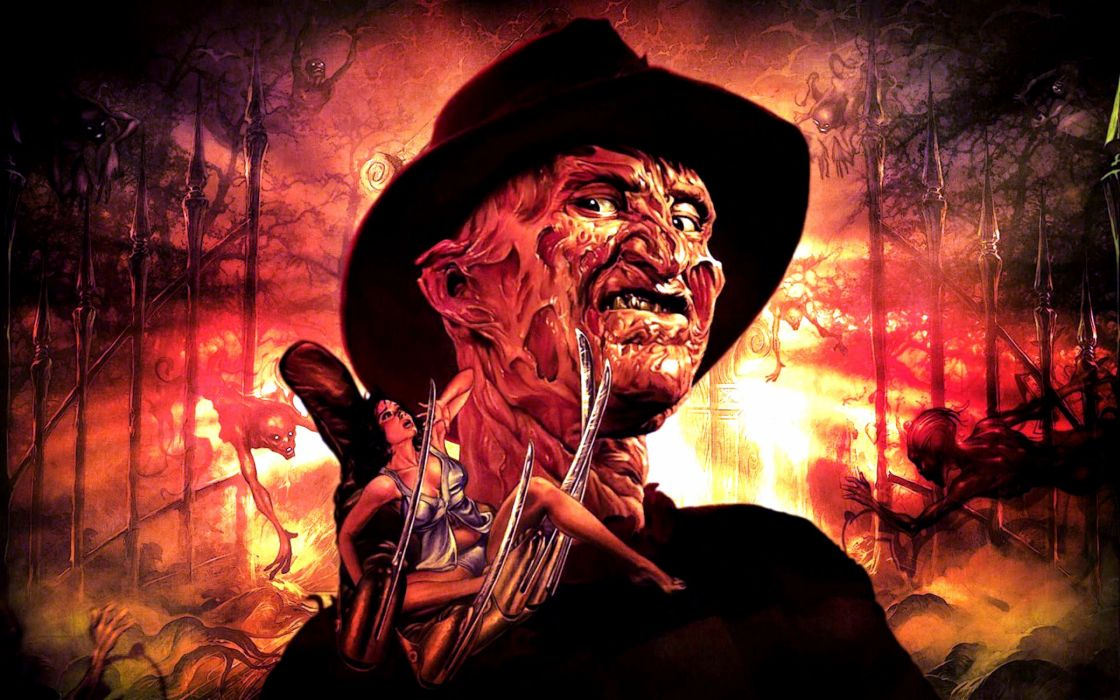 A NIGHTMARE ON ELM STREET dark horror thriller poster   fd wallpaper