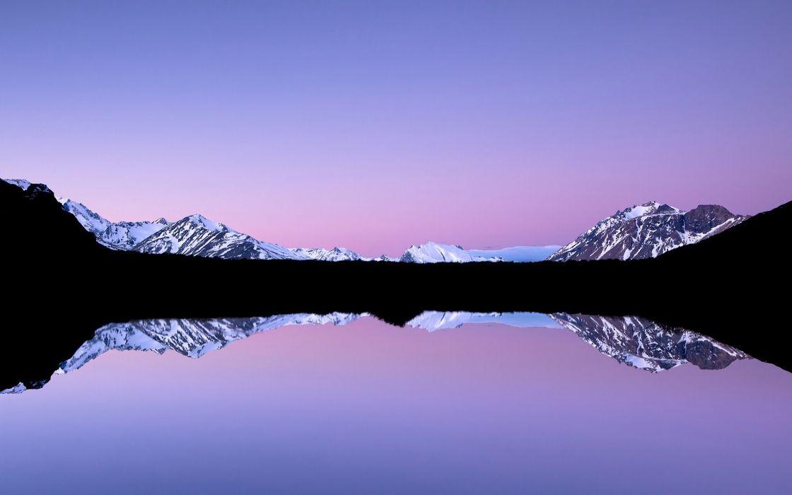 nature lake landscape reflection fog mountain ice tree ultrahd 4k wallpaper wallpaper