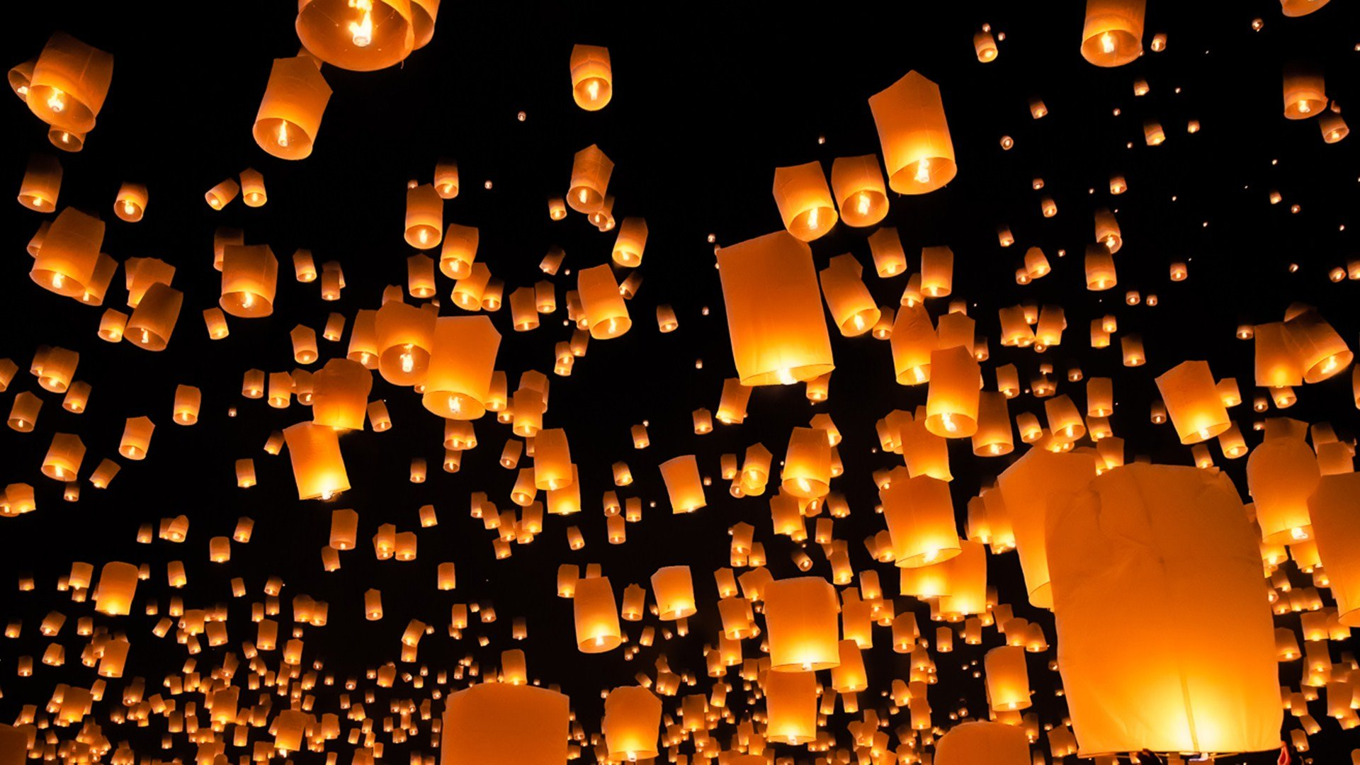 Night Light Ballon Photography Hd Wallpaper Wallpaper