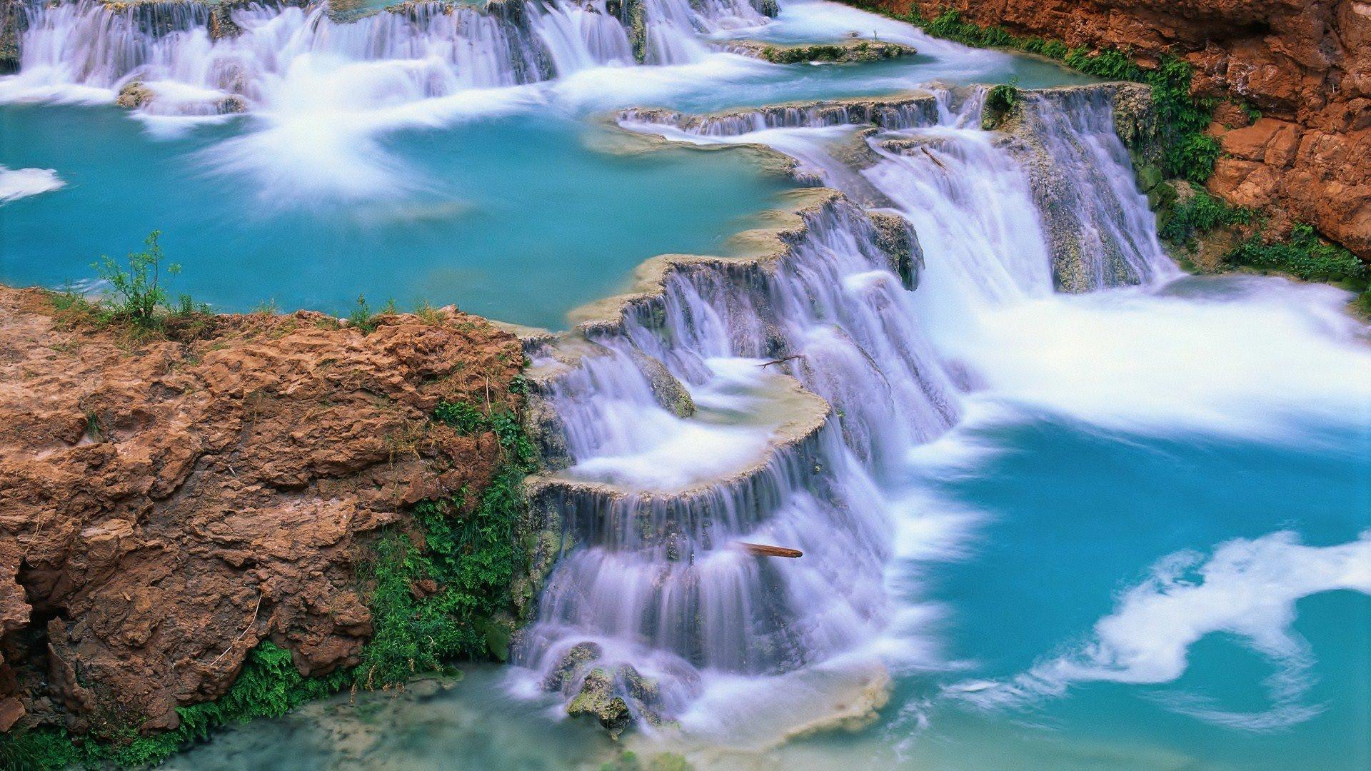 mountain waterfall wallpaper landscape - photo #19