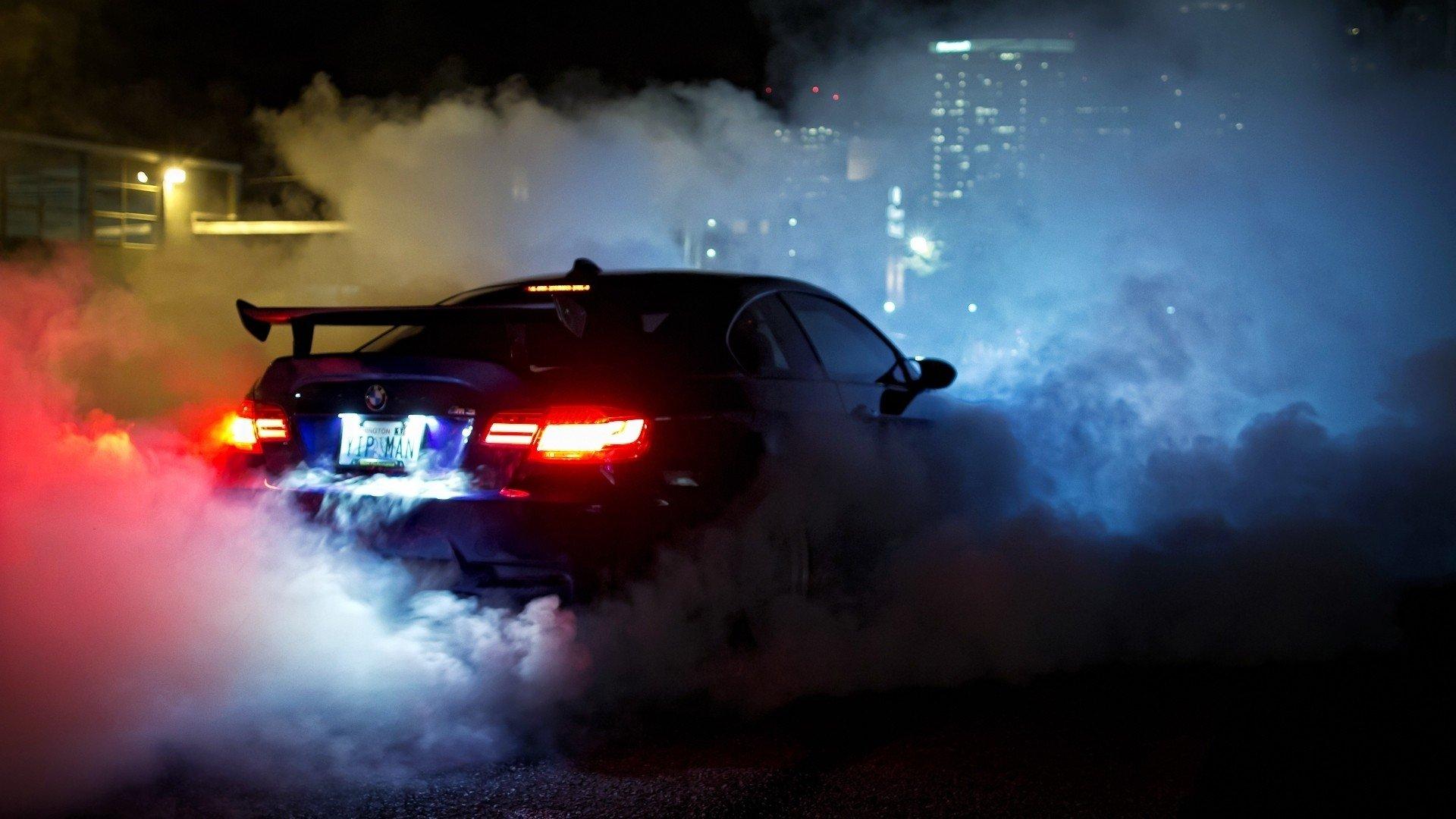 Car Fire Smoke Night Hd Wallpaper 1920x1080 237077 Wallpaperup