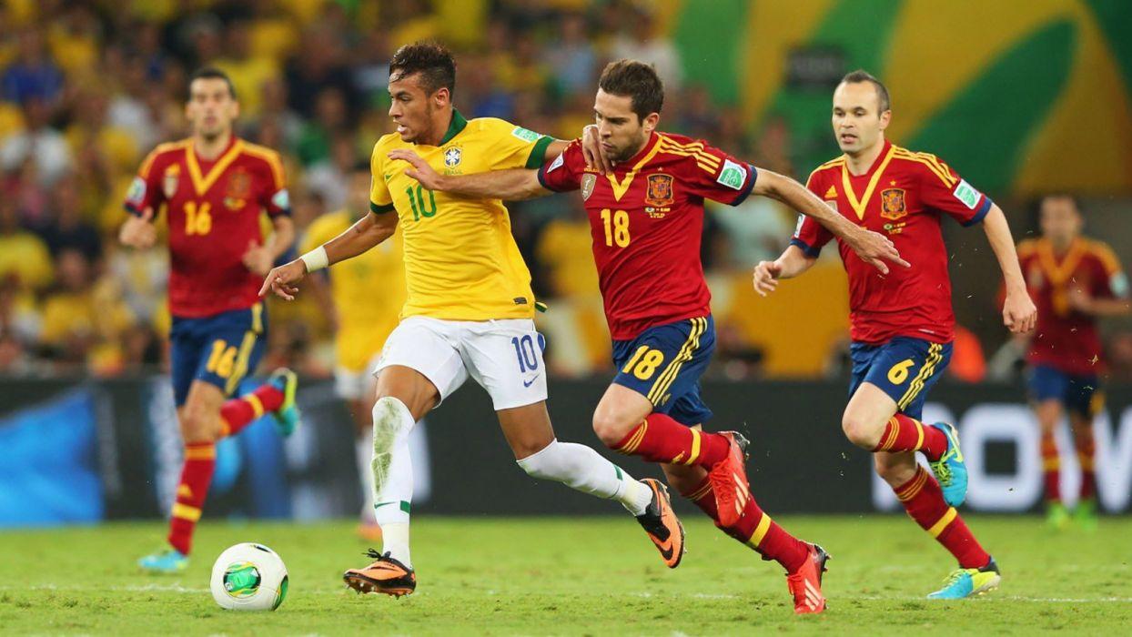 football sport neymar spain brazil soccer hd wallpaper