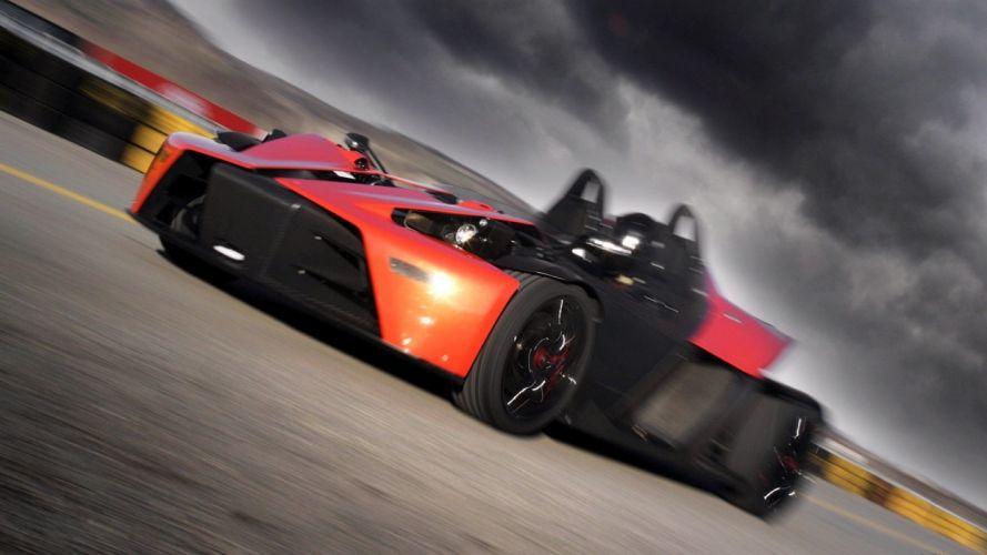cars orange track KTM X-BOW wallpaper