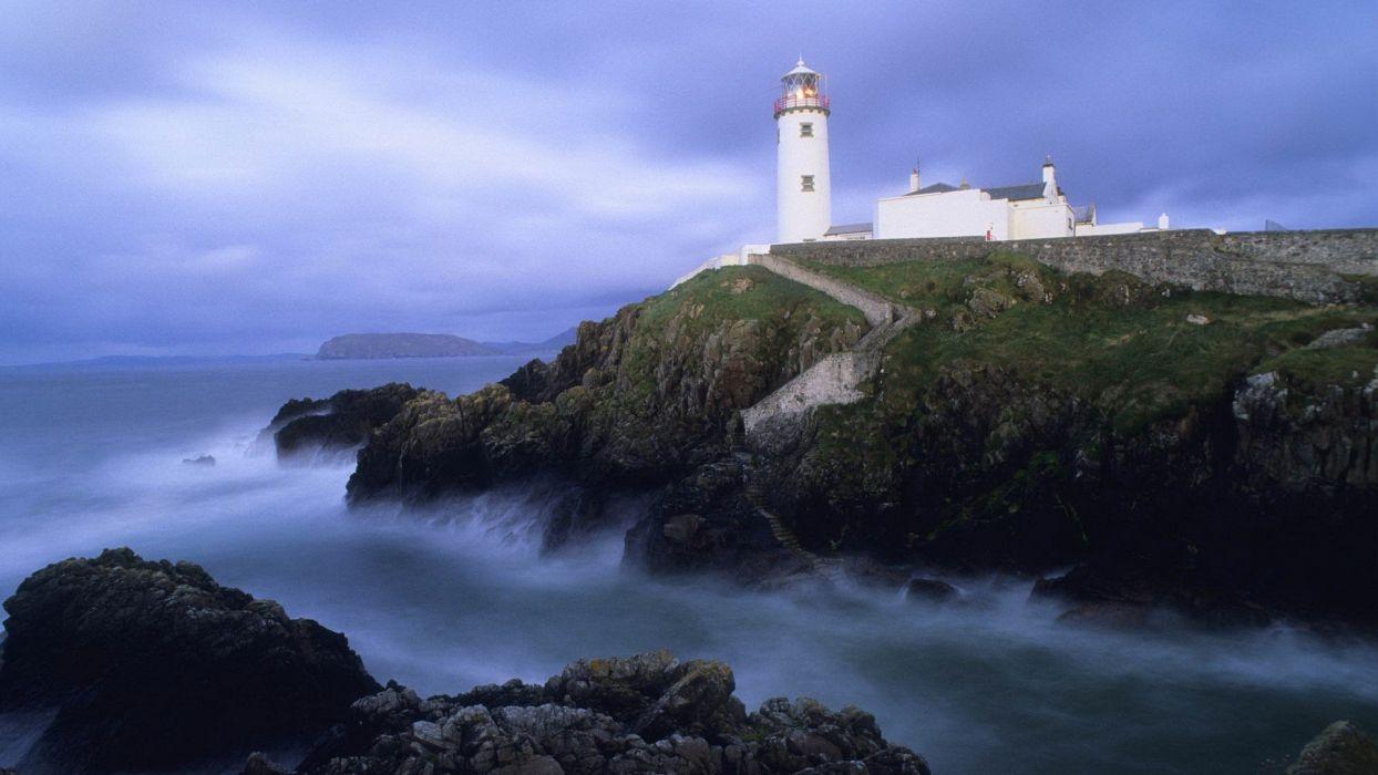landscapes head Ireland lighthouses wallpaper