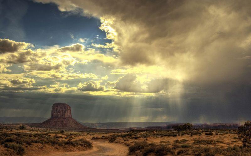 sunrise clouds landscapes nature deserts Utah skyscapes bushes wallpaper