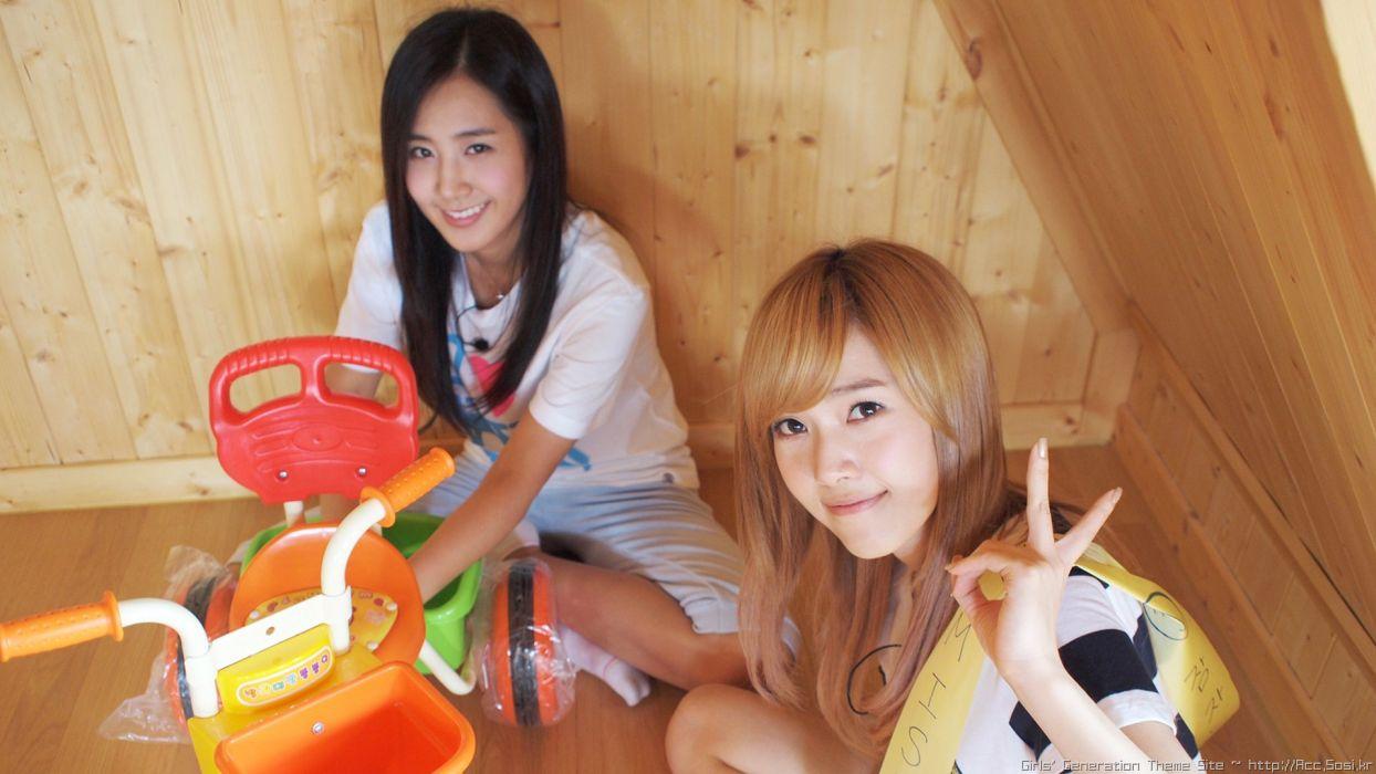 women Girls Generation SNSD celebrity Jessica Jung Kwon Yuri wallpaper