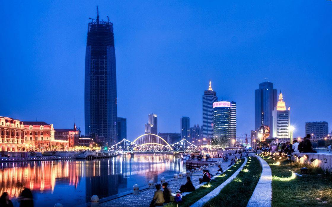cityscapes China skyscrapers city skyline wallpaper