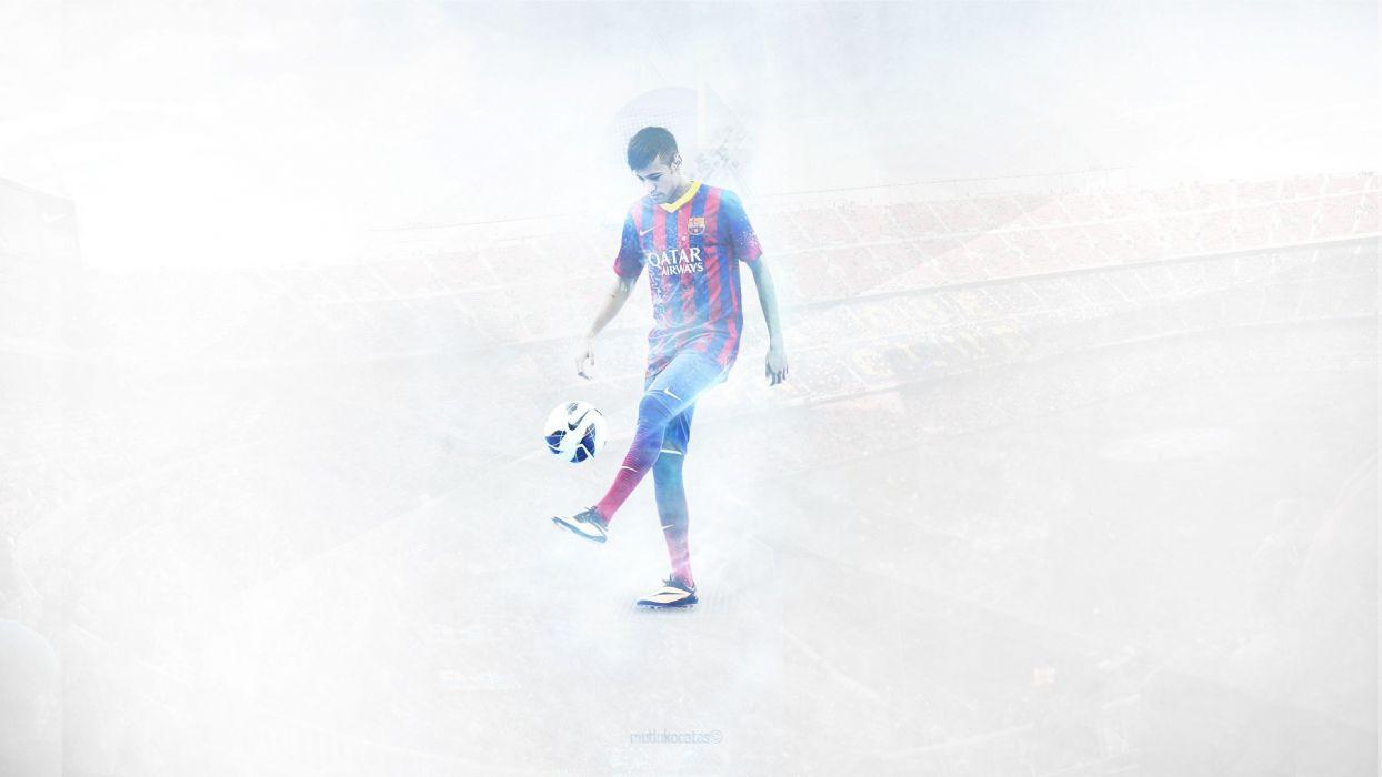 sports soccer FC Barcelona blaugrana football players Neymar JR wallpaper