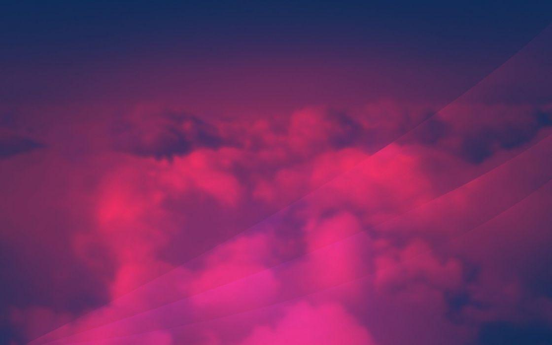 Clouds Red Pink Wallpaper 1920x1200 237168 Wallpaperup