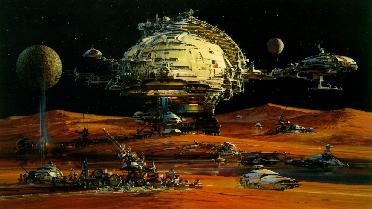 fantasy outer space fantasy art science fiction wallpaper