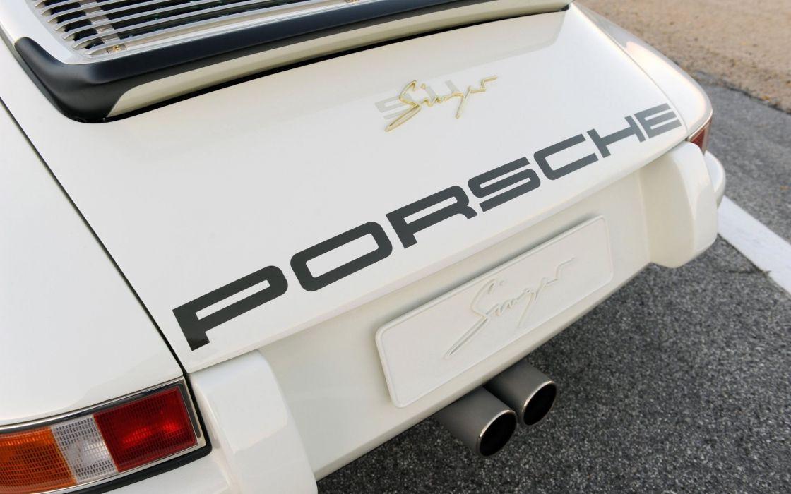 Porsche cars white cars Singer 911 wallpaper