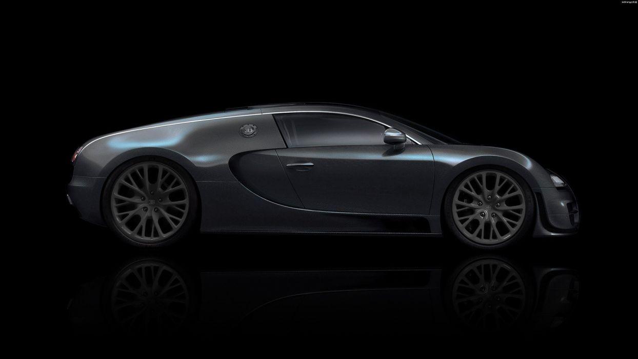 black stealth cars Bugatti Veyron DeviantART digital art tuning black background wallpaper
