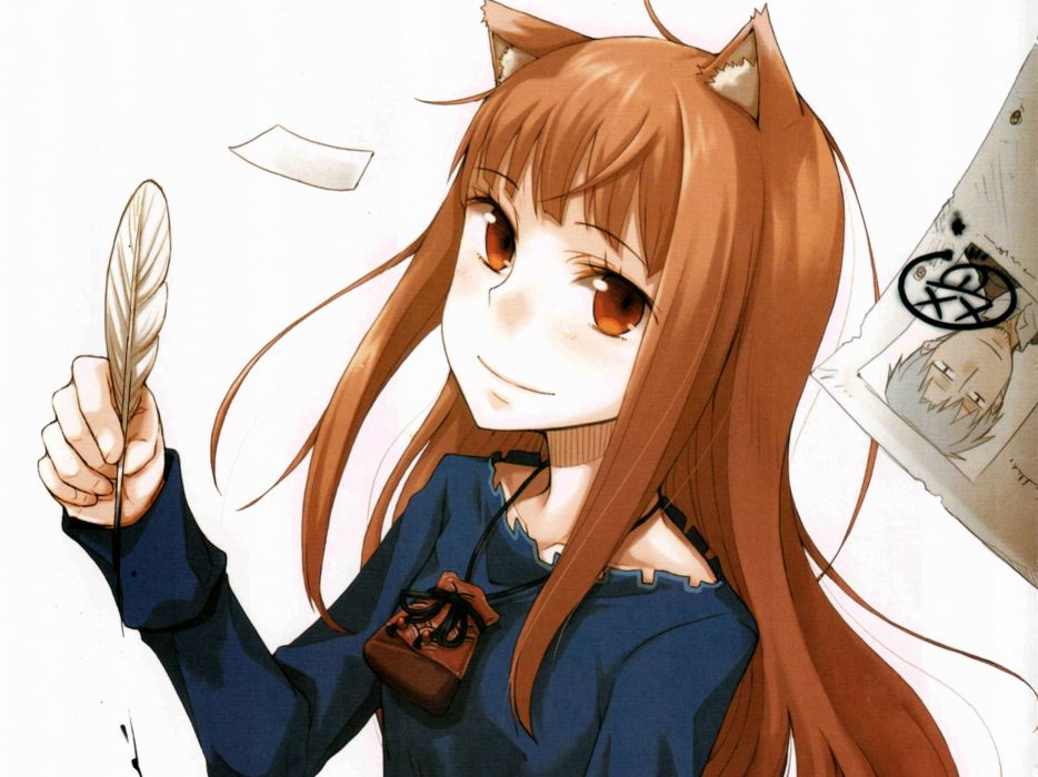 Spice and Wolf Holo The Wise Wolf wallpaper