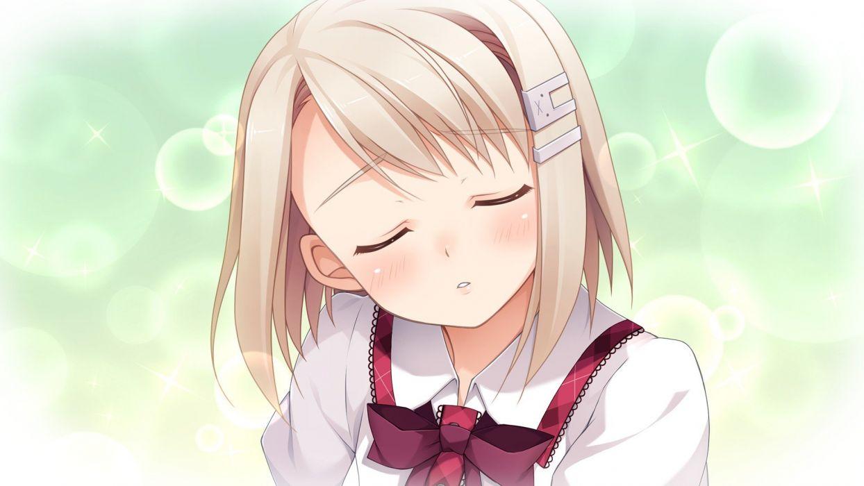 blondes visual novels short hair game CG anime girls Imouto no Katachi Chimari Mima wallpaper