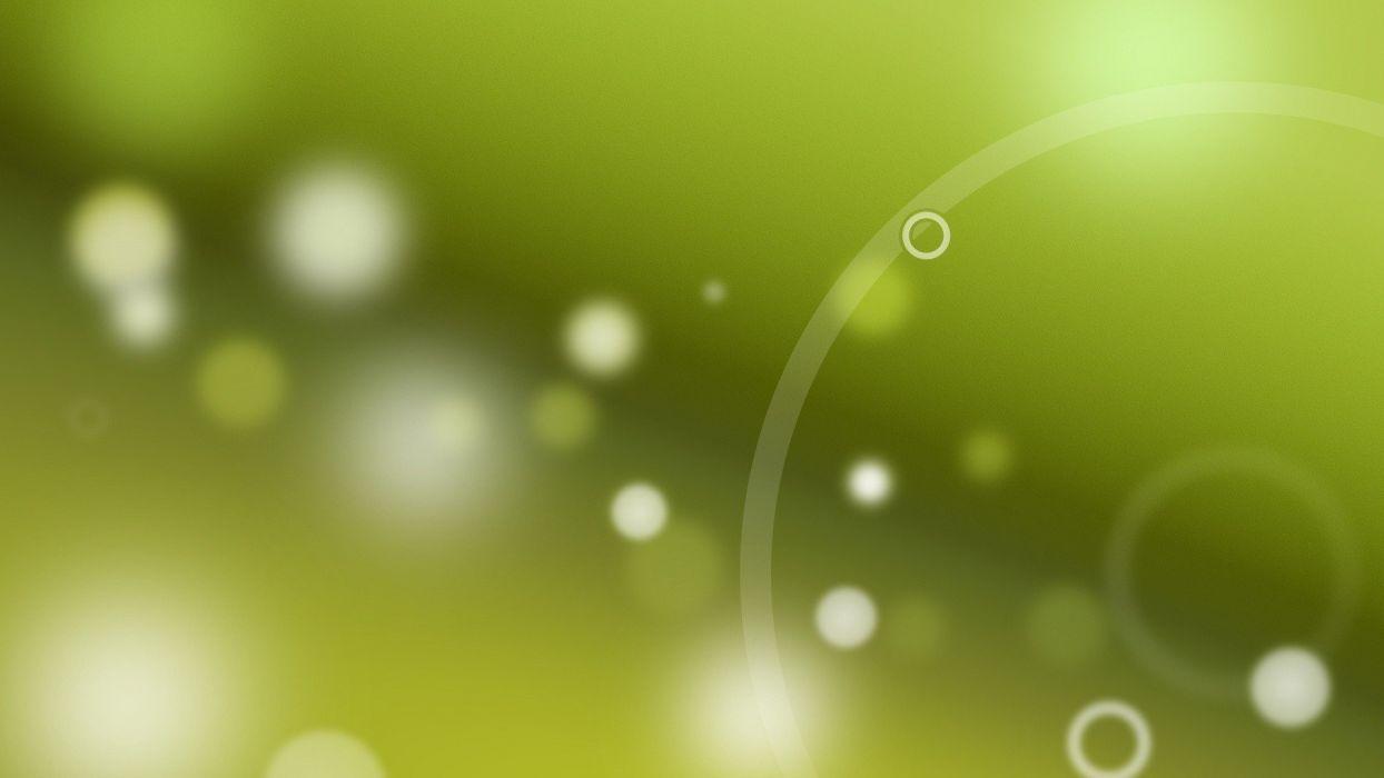 green circles digital art depth of field green background wallpaper
