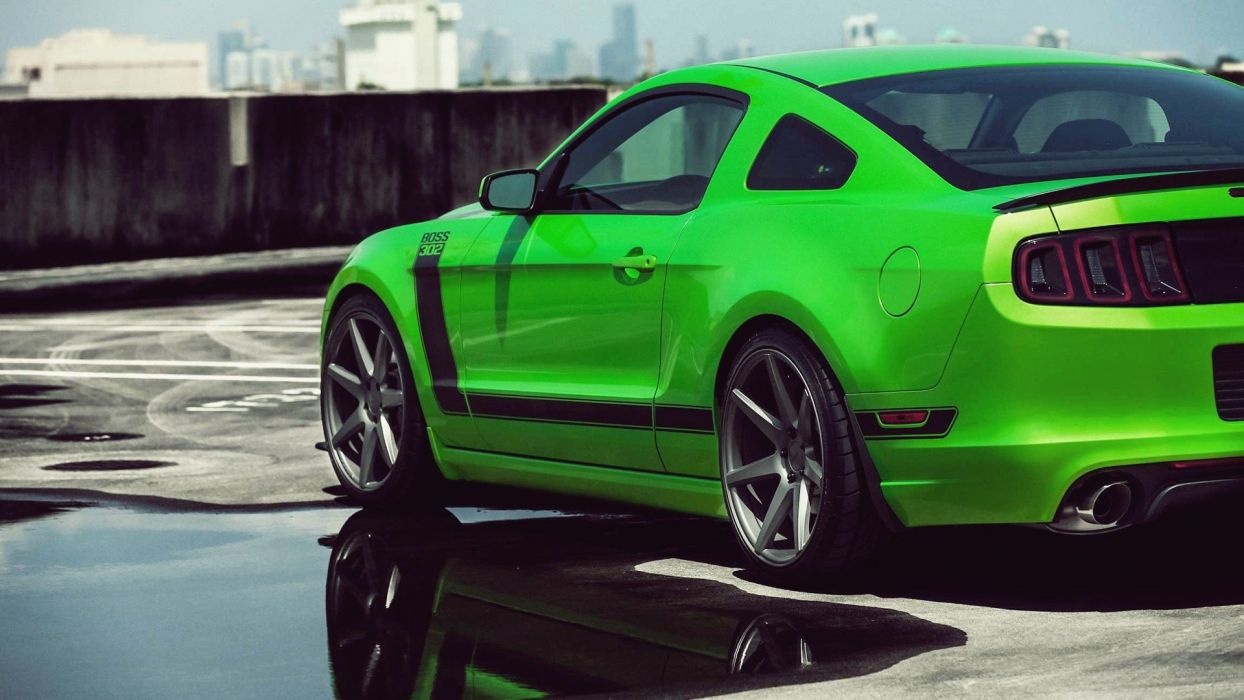 green cars Ford vehicles Ford Mustang automotive Ford Mustang Boss 302 automobiles Ford Mustang Shelby wallpaper