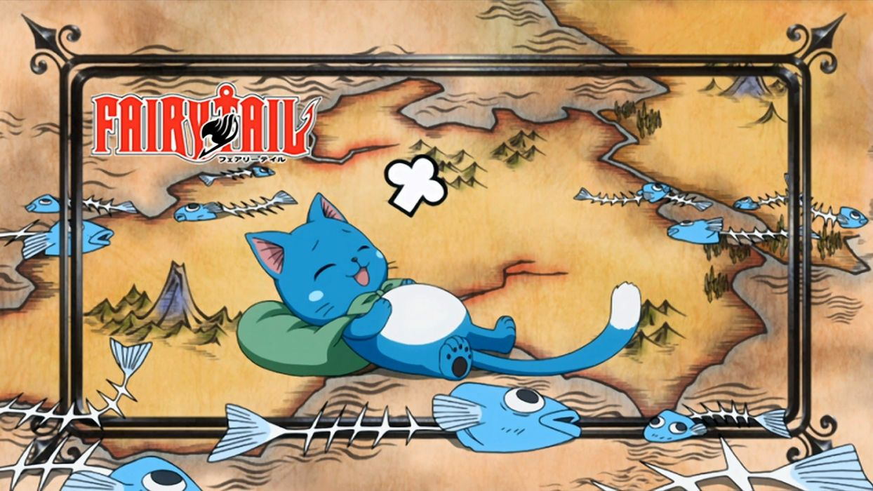 text Fairy Tail anime Happy (Fairy Tail) wallpaper