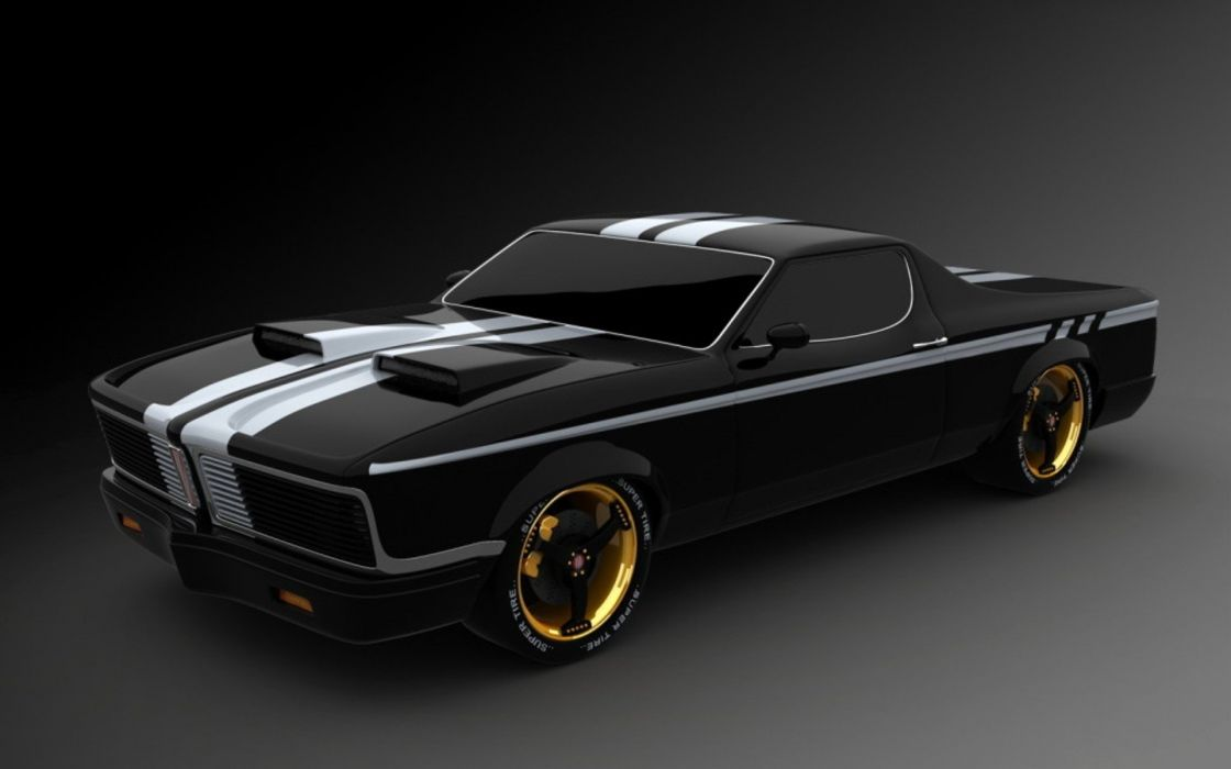 black Pontiac GTO tuned wallpaper