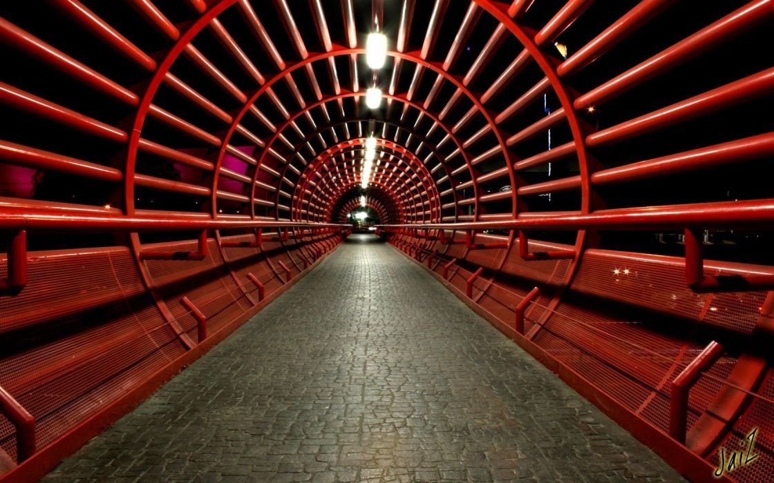 architecture tunnels wallpaper