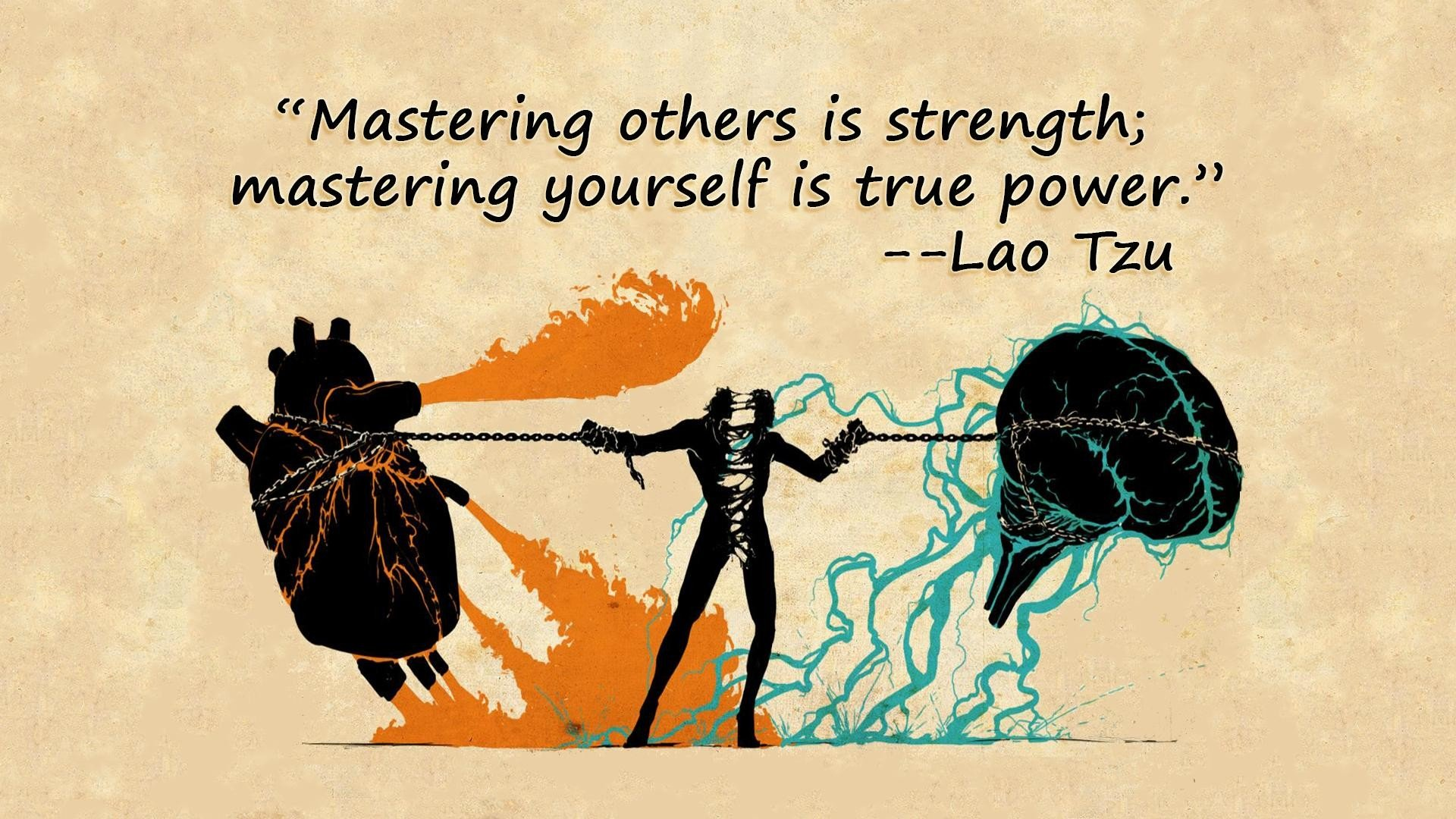Quotes brain hearts chains Taoism Lao Tzu wallpaper ...