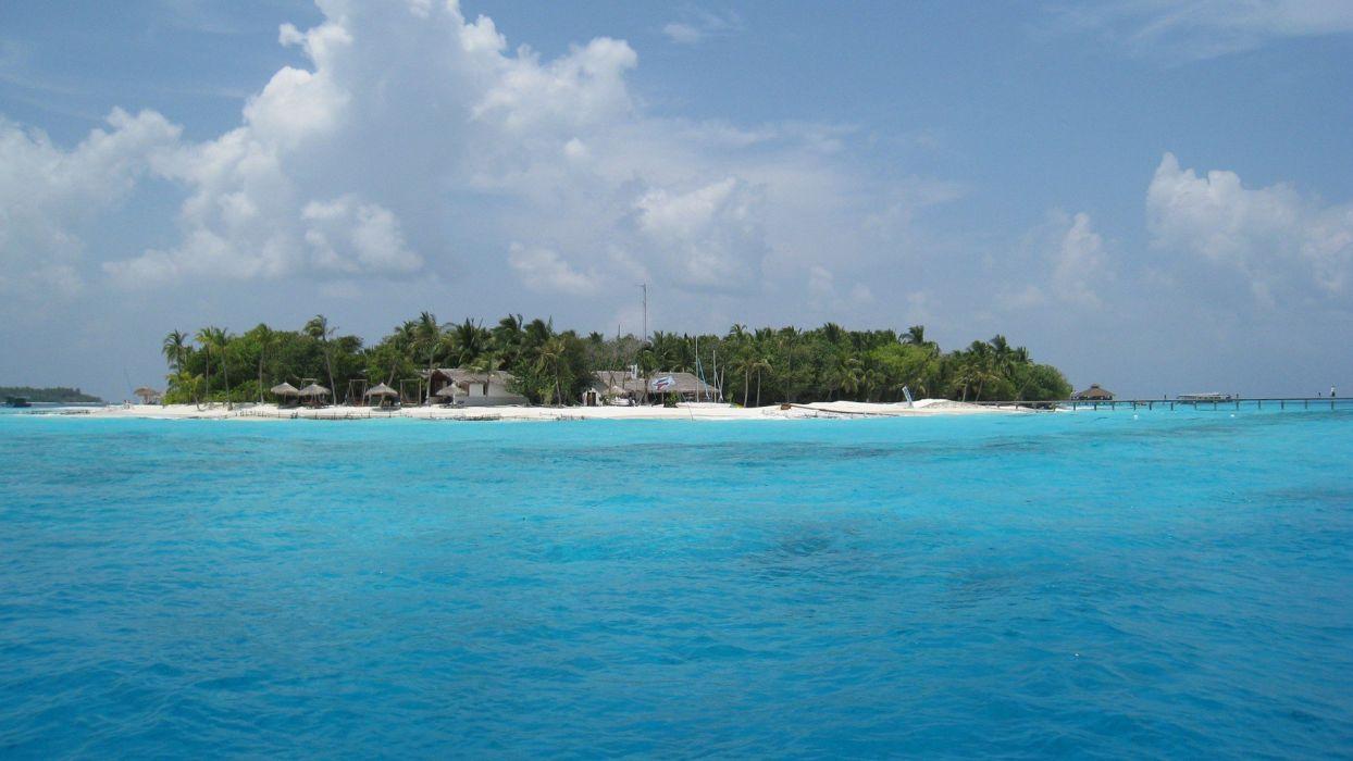Maldives islands sea water beaches wallpaper