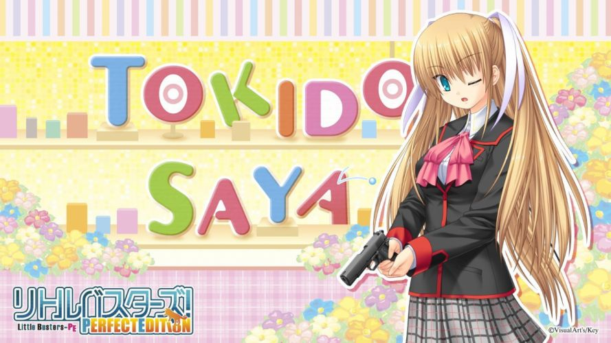 school uniforms visual novels Little Busters! Saya Tokido wallpaper