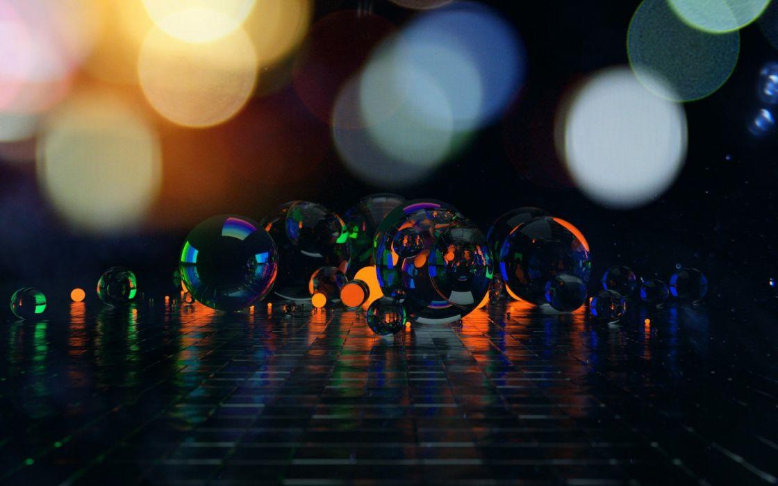 abstract spheres renders wallpaper