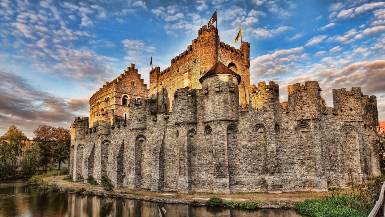 castles HDR photography wallpaper