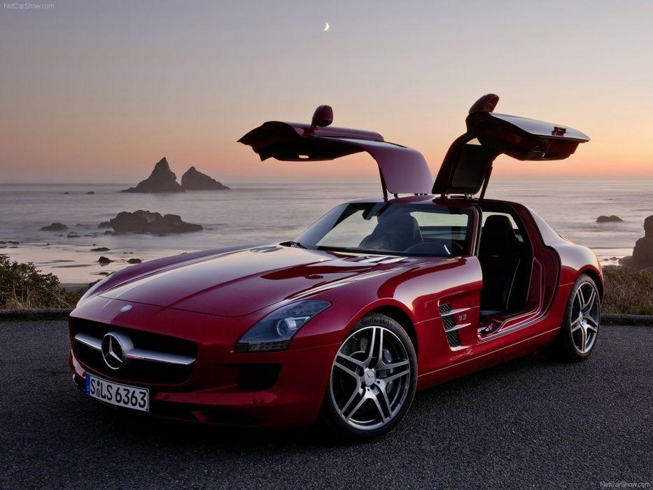 cars Mercedes-Benz gullwing Mercedes-Benz SLS AMG E-Cell wallpaper