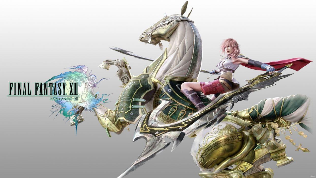 Final Fantasy video games Final Fantasy XIII horses Oerba Dia Vanille digital art wallpaper
