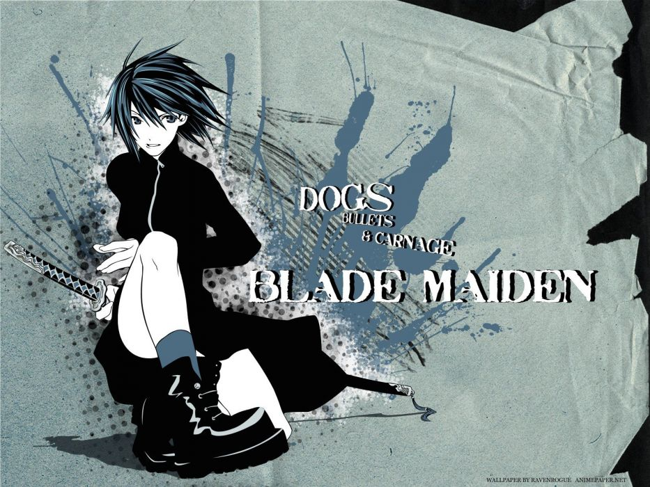 monochrome Dogs: Bullets and Carnage anime manga Blade Maiden Fuyumine Naoto wallpaper