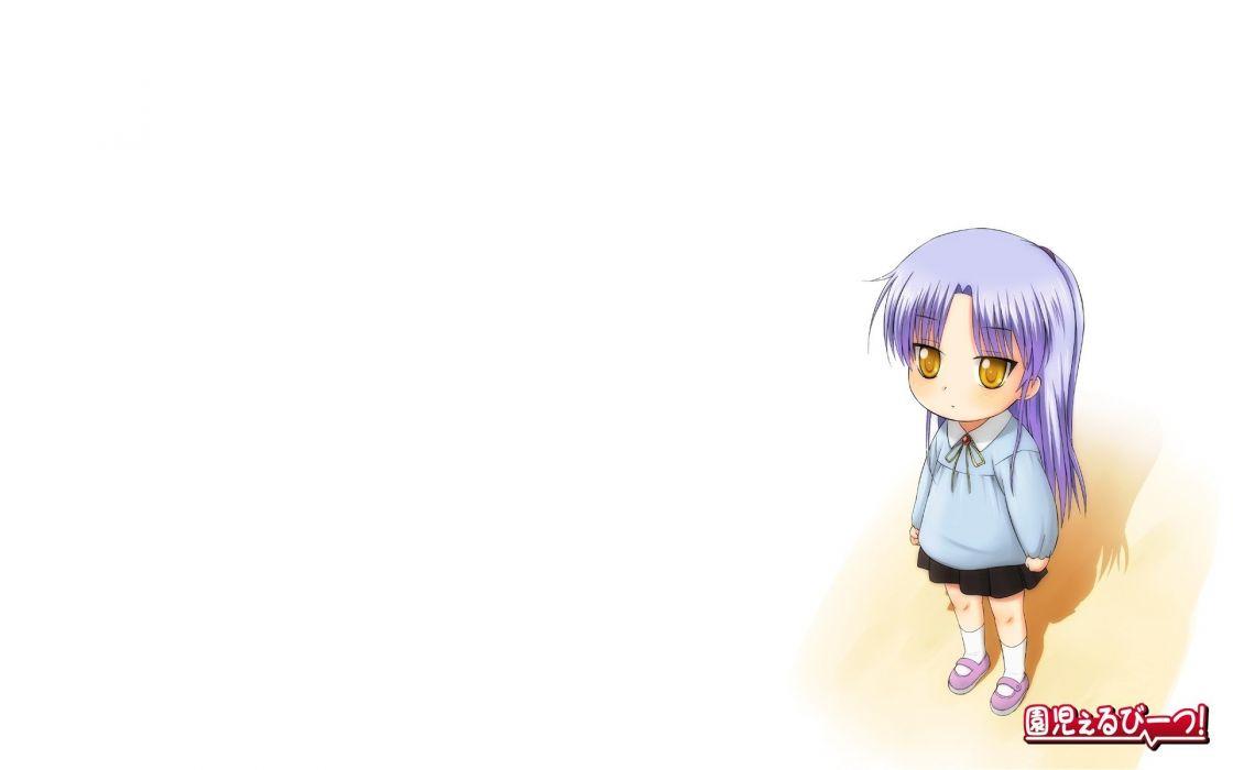 Angel Beats! Tachibana Kanade simple background white background wallpaper